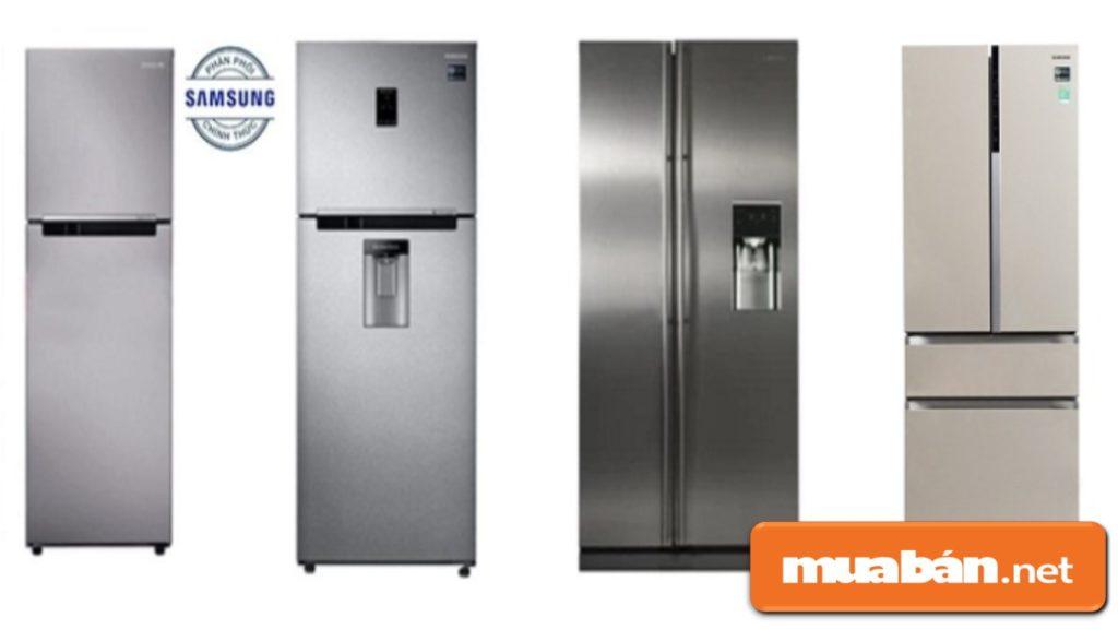 Các kiểu dáng của tủ lạnh Samsung trên thị trường.