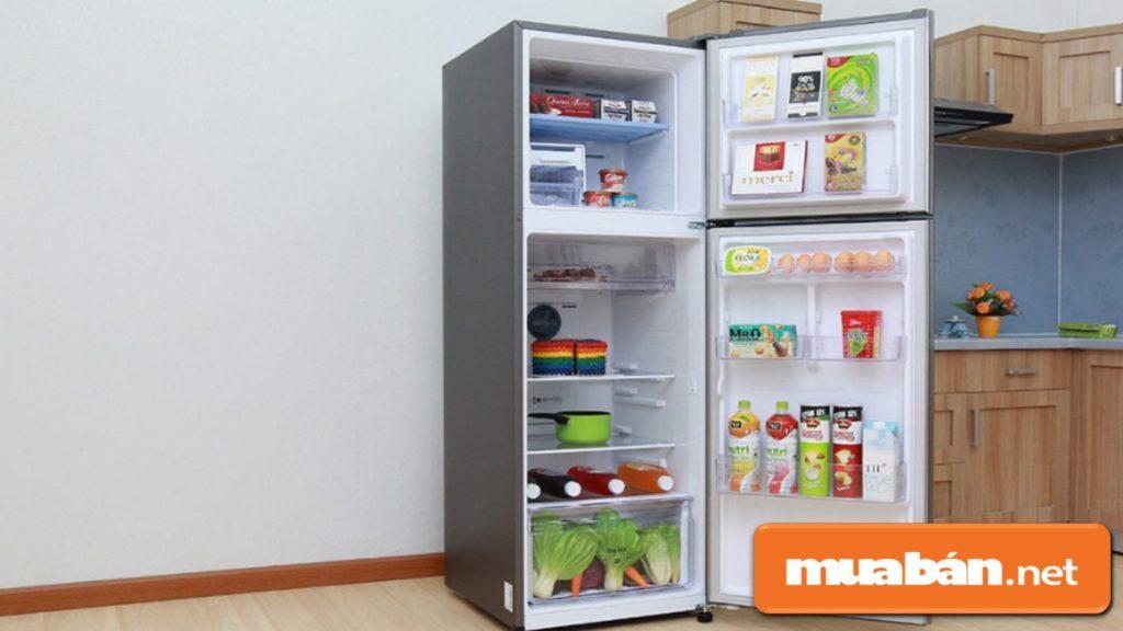 Dung tích tủ lạnh Samsung đáp ứng đầy đủ nhu cầu sử dụng trong gia đình.