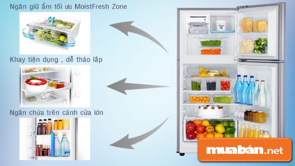 Các thiết kế hiện đại có trên tủ lạnh Samsung.