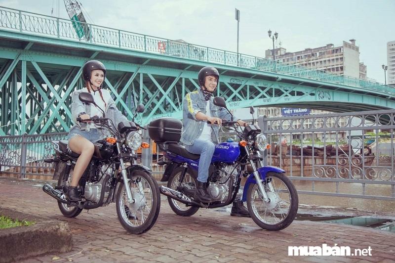 Suzuki GD110HU có thiết kế mạnh mẽ, cá tính, vận hành ổn định được nhiều người yêu thích.
