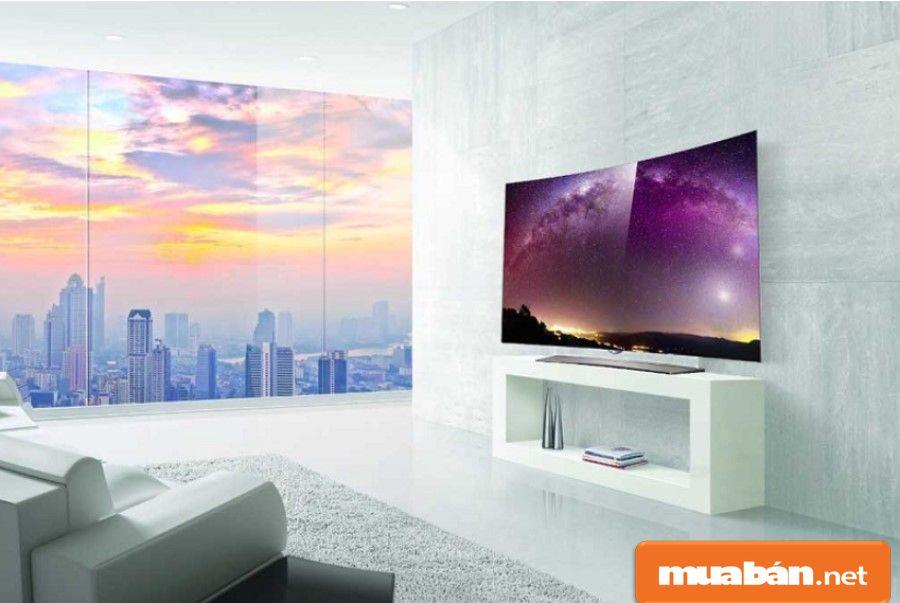 LG Oled EG920T là sản phẩm có màn hình cong kích thước 55 inch, siêu mỏng.