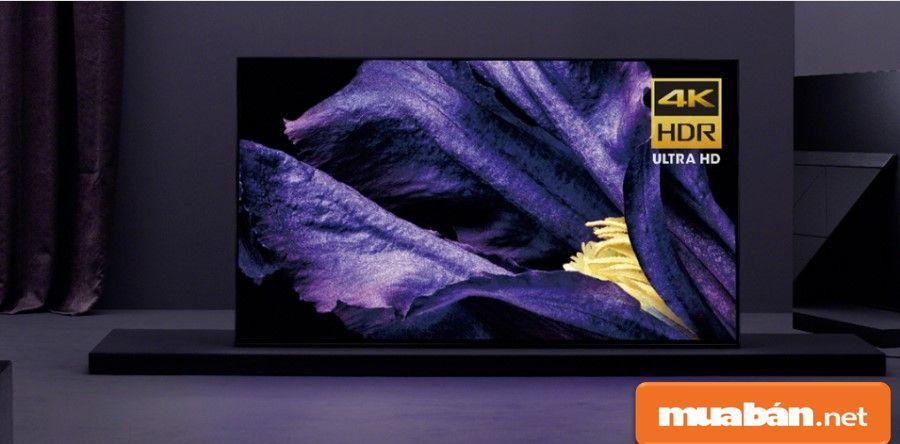 Oled Sony 55A9F có kích thước 57 inch, từ Malaysia, được xem như là tivi được hỗ trợ công nghệ mới nhất của Sony.