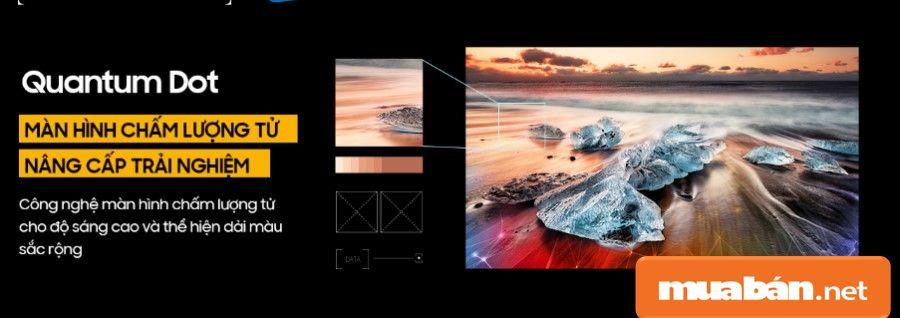 Công nghệ mới nhất về màn hình chấm lượng tử Quantum Dot giúp bạn nâng cấp những trải nghiệm về độ sáng.