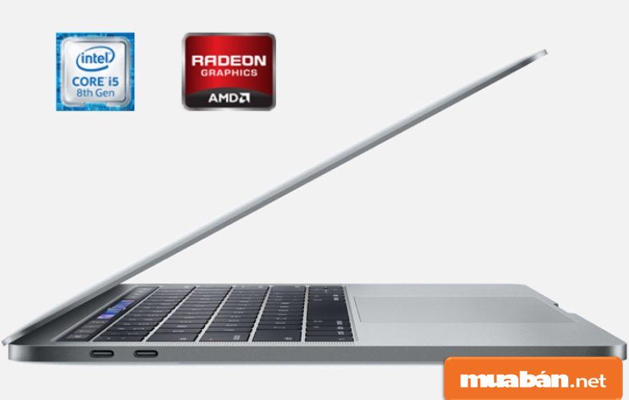 Cấu hình mạnh với Core i7 Kebylake, Ram 16Gb, bộ nhớ SSD 256Gb, card đồ họa rời AMD Radeon Pro 555X...