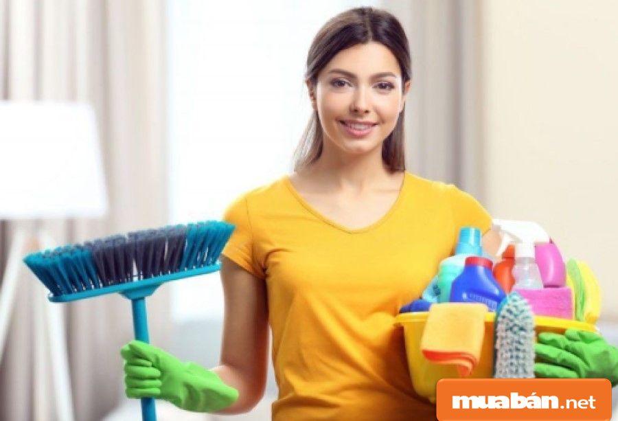 Công việc dọn vệ sinh theo giờ cũng khá linh động về thời gian để bạn lựa chọn.
