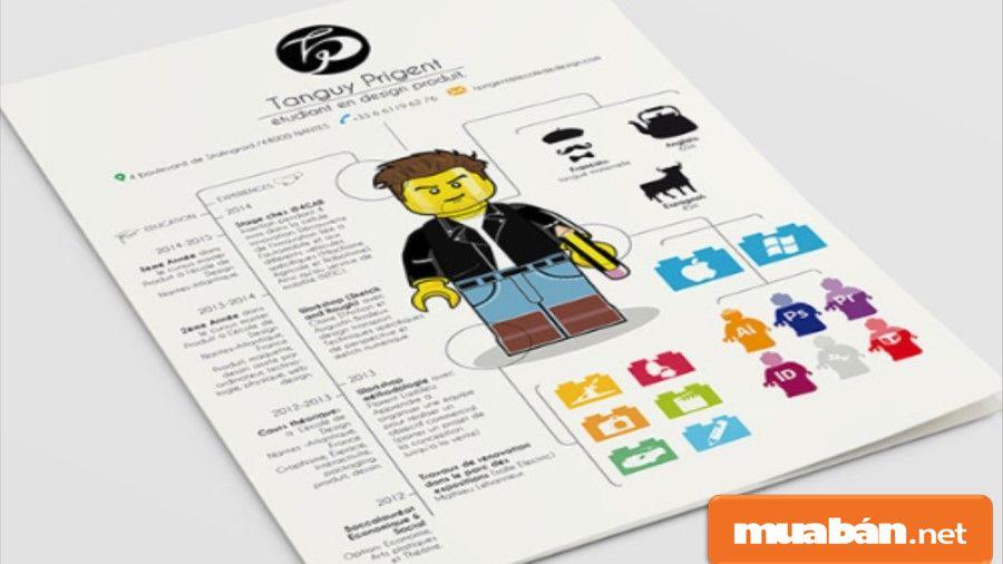 Vì tìm việc làm designer nên bạn hãy đầu tư vào một bản CV ấn tượng, sáng tạo nhất có thể.