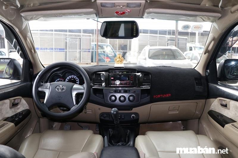 Nội thất Toyota Fortuner bản 2015