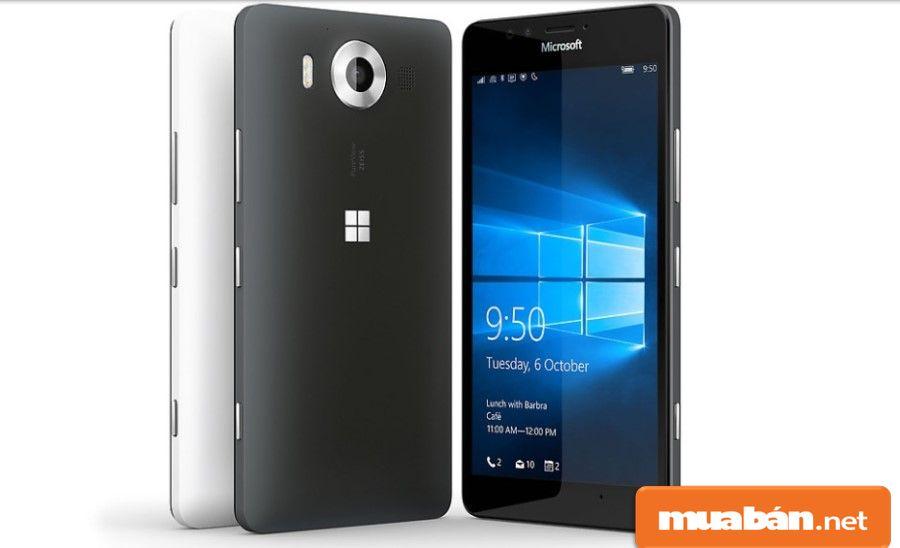 Lumia 950 được thiết kế từ chất liệu nhựa với các cạnh bên được bo tròn giúp máy sang trọng hơn.