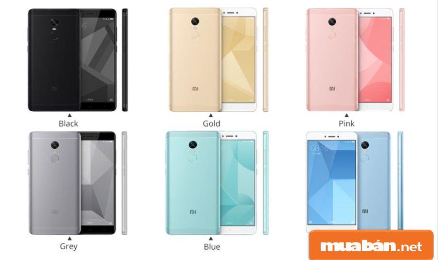 Ở Redmi Note 4X, Xiaomi đã đầu tư khá nhiều màu sắc cho người dùng lựa chọn theo sở thích.