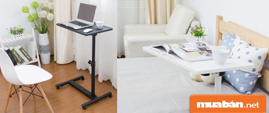 Bạn chọn những loại bàn này sẽ giúp bạn tận dụng được thời gian dùng máy trước khi ngủ khi đã nằm trên giường.