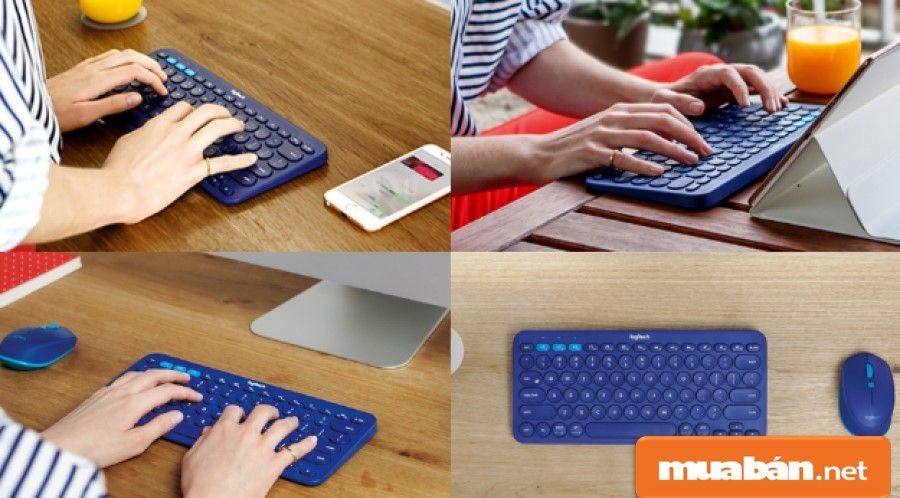 Sử dụng bàn phím bluetooth giúp bạn có thể gõ phím ở bất cứ nơi đâu thông qua sóng bluetooth.