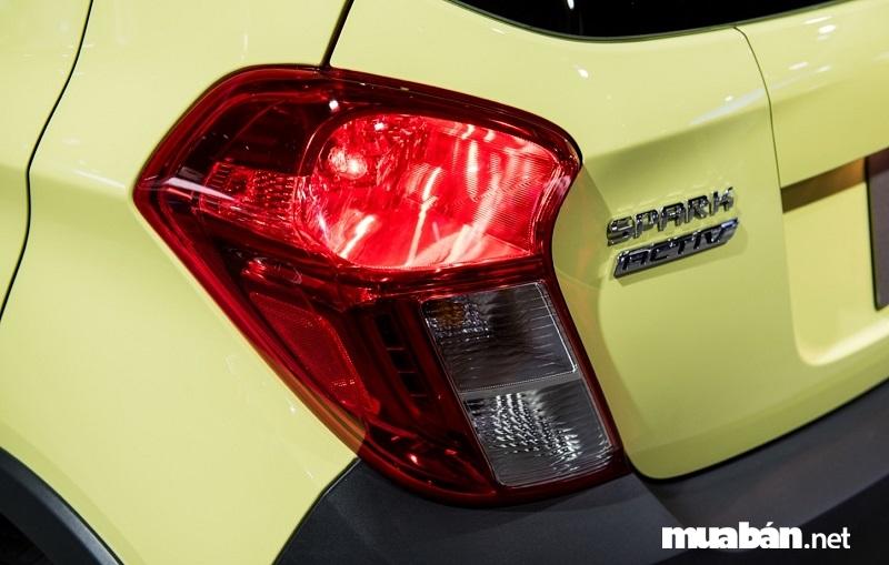 Spark 2017 có phần đuôi xe được thiết kế theo lối tinh giản và gọn gàng hơn.