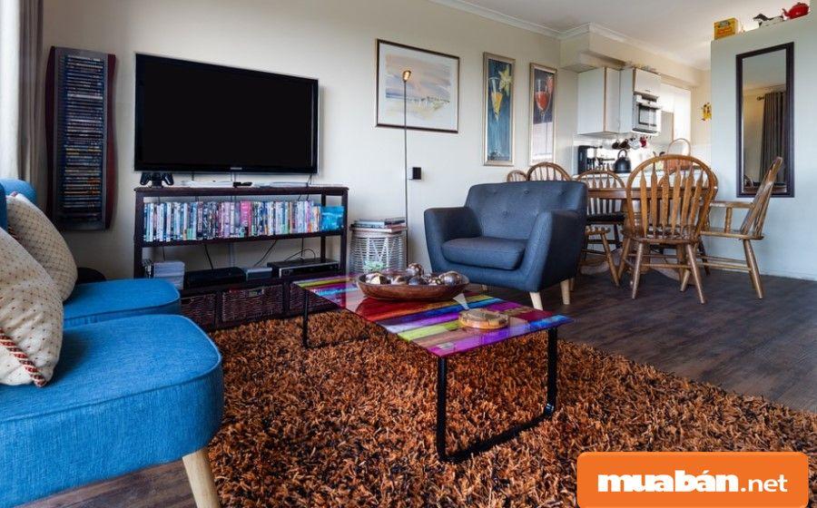 Các chi tiết trong căn hộ được sắp xếp theo một thể thống nhất, thuận tiện cho mọi khu vực trong nhà.