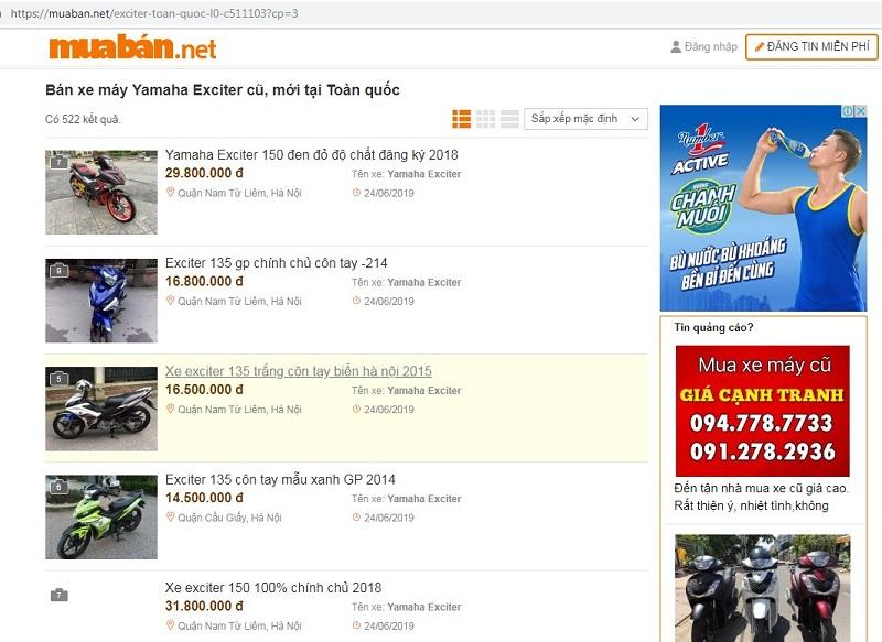 Muaban.net - địa chỉ mua bán xe Exciter 135 cũ uy tín nhất hiện nay.
