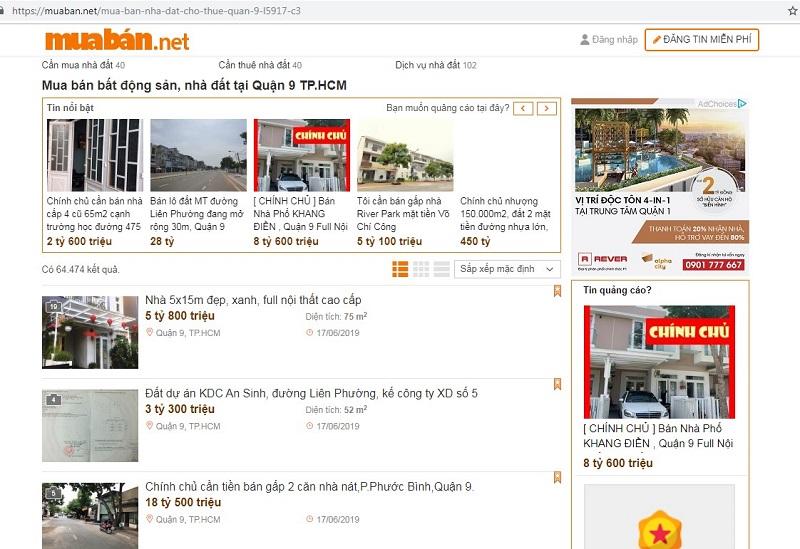 Lựa chọn website chuyên đăng tin bất động sản uy tín