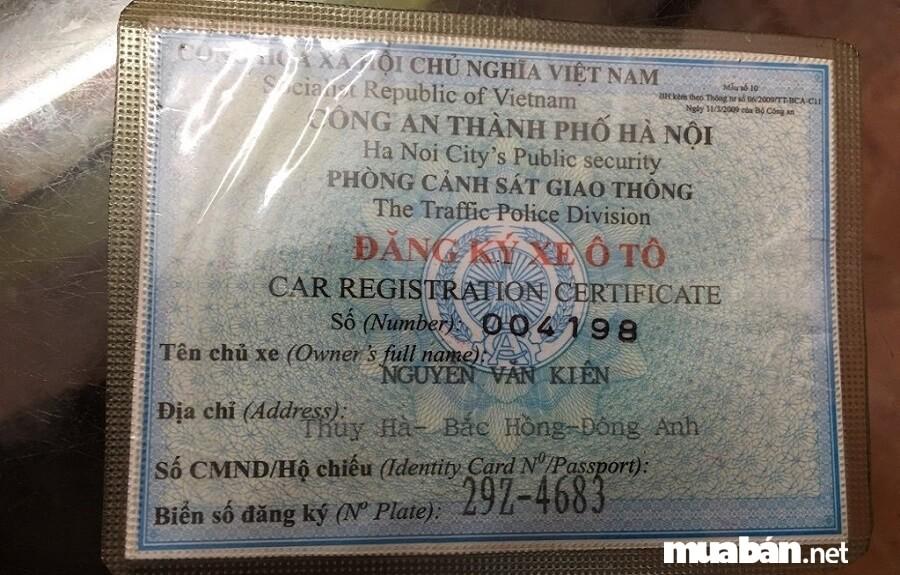 Đảm bảo đủ giấy tờ xe