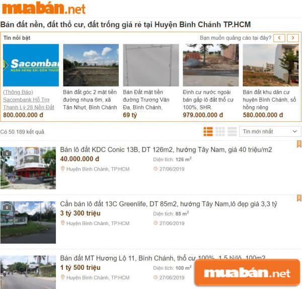 MuaBan.Net là trang đăng tin vô cùng hiệu quả