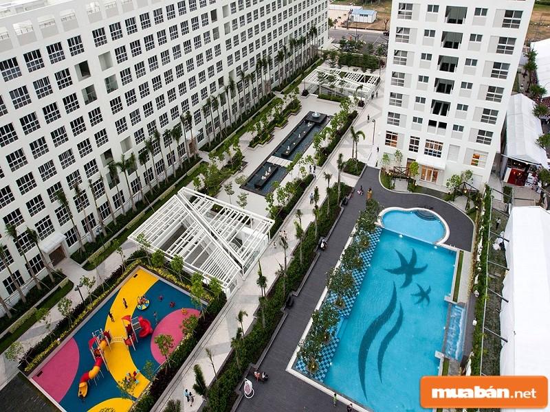 ảnh chụp chung cư từ trên cao