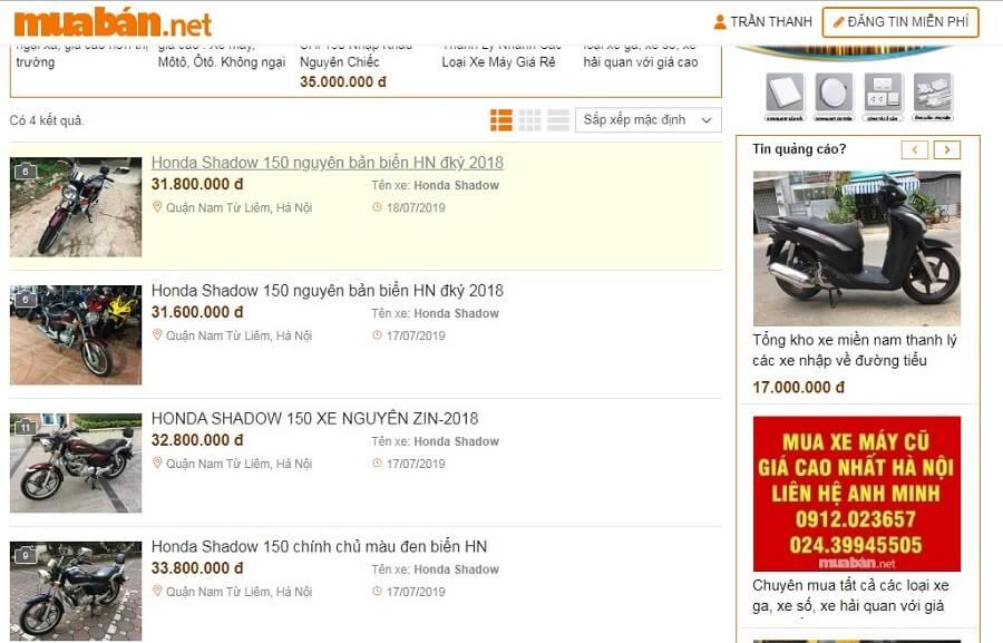Muốn mua xe Honda Shadow 150 thì hãy truy cập ngay muaban.net.