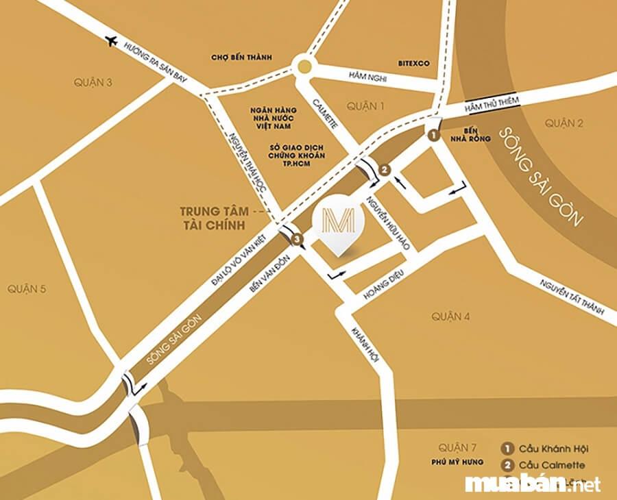 Từ căn hộ Millennium Masteri có thể di chuyển về trung tâm quận 1 cực kỳ dễ dàng