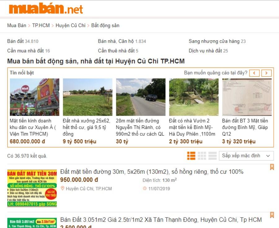 Bạn có thể đọc thông tin quảng cáo trên các tờ báo, trên các website chuyên về bất động sản.