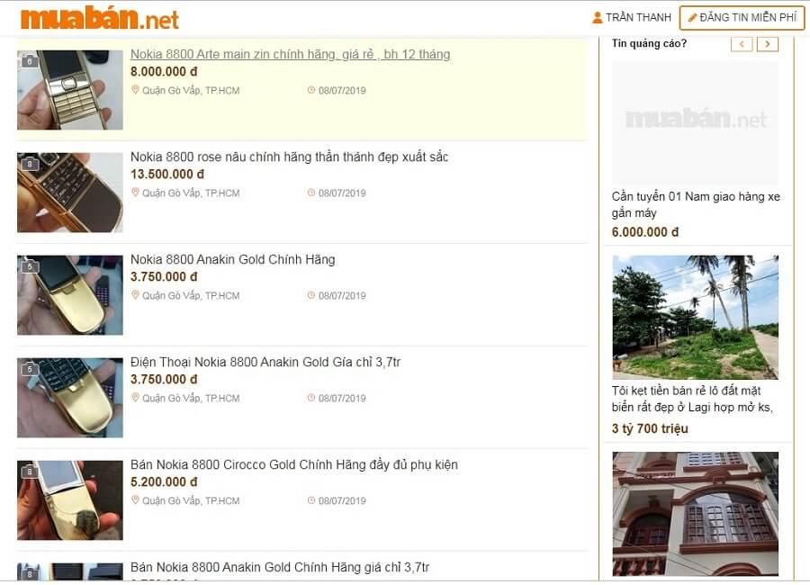 muaban.net - địa chỉ bán điện thoại Nokia 8800 Gold giá tốt, uy tín, minh bạch