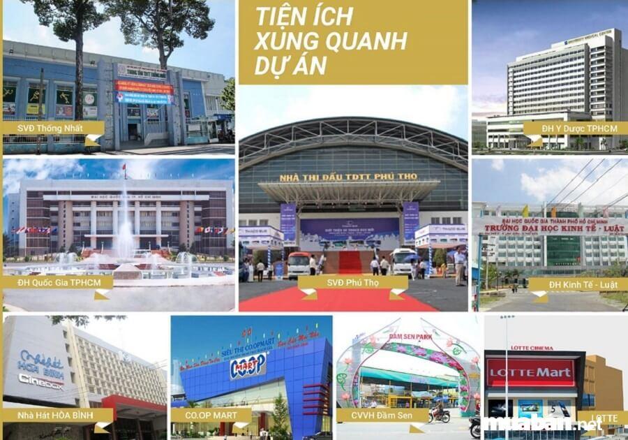 Dự án Xi Grand Court có tiện ích ngoại khu đa dạng.