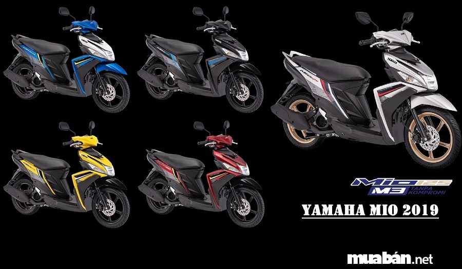 Xe Yamaha Mio phiên bản 2019 sẽ được ra mắt tại thị trường Indonesia với 5 màu tùy chọn.