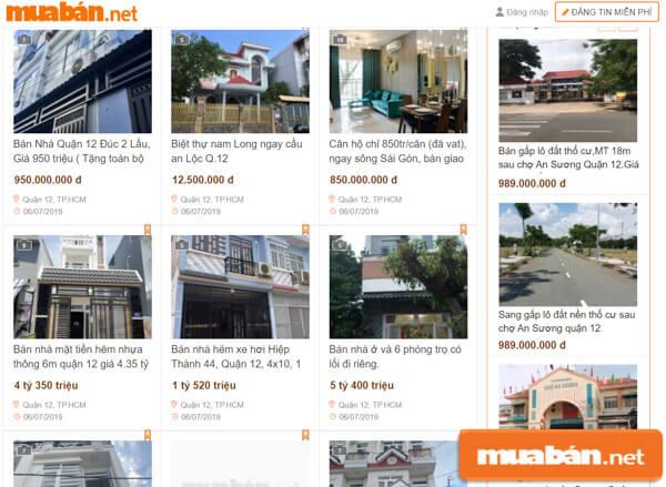 MuaBan.Net là một trong những trang đăng tin lớn nhất Việt Nam