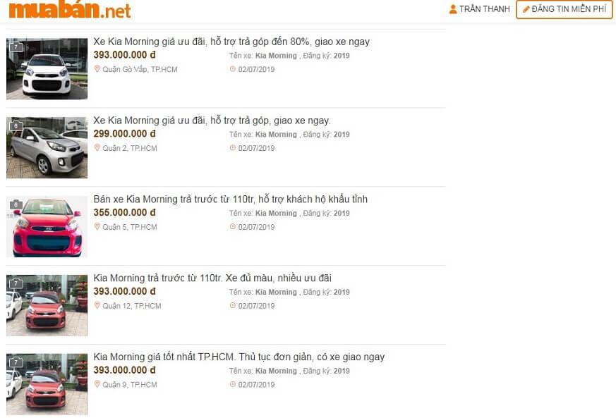 Muaban.net - địa chỉ mua xe Kia cũ giá tốt nhất hiện nay.