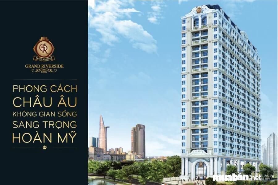 Grand Riverside quận 4 sở hữu hệ thống căn hộ hiện đại được thiết kế tựa như không gian sống Châu Âu giữa lòng Sài Gòn.