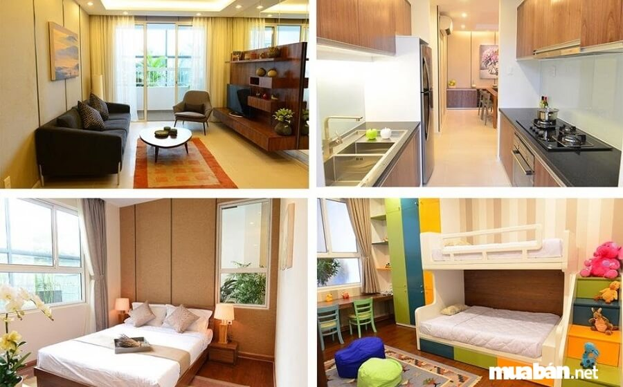 Diện tích căn hộ Lexington Residence từ 48.5m2 – 101.5m2. Riêng blocl B – C được bố trí 17 căn hộ/sàn