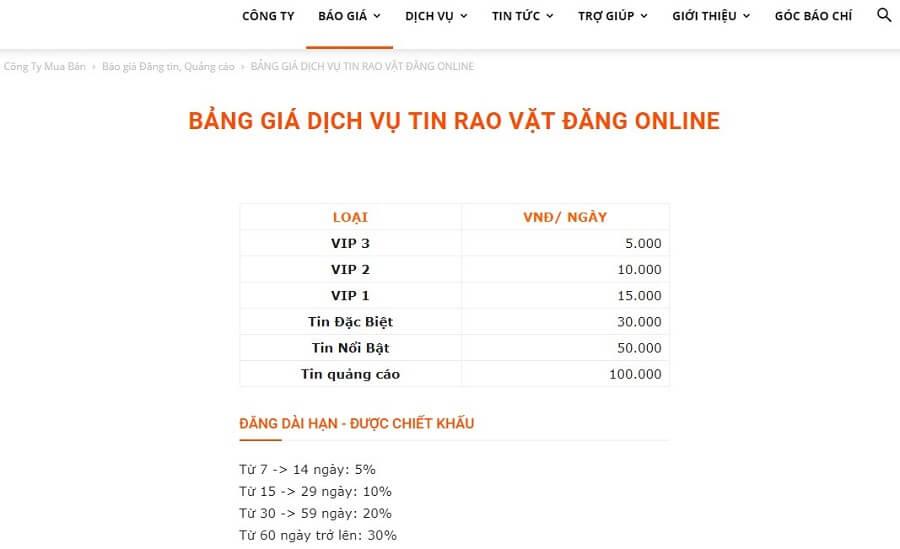 Chỉ từ 5000 đồng mỗi ngày bạn đã có thể đăng tin rao vặt hiệu quả cùng muaban.net