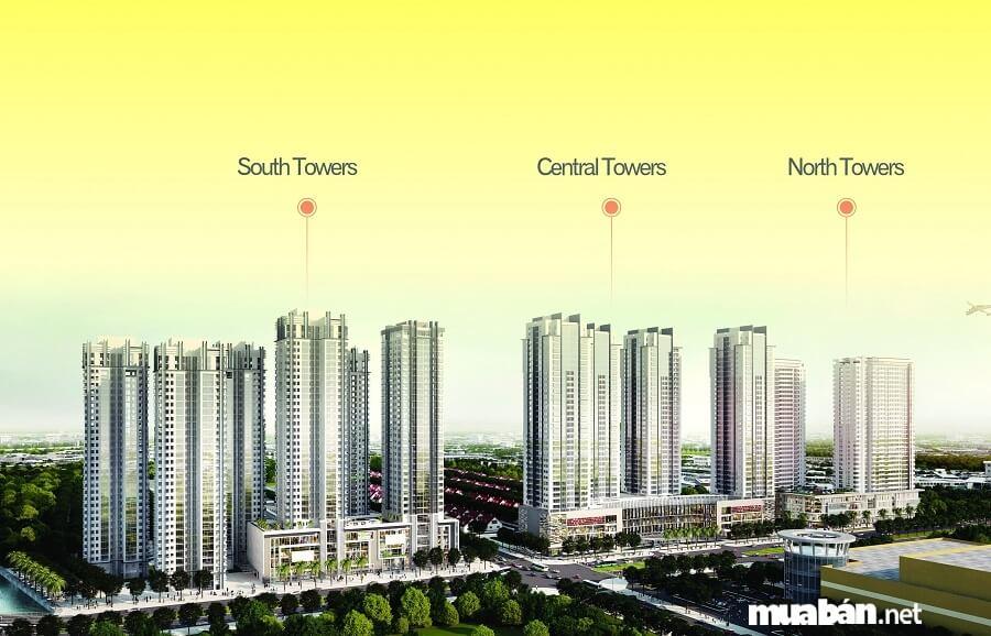 Dự án Sunrise City được xây dựng gồm 3 khu căn hộ nằm trải dài trên mặt tiền đường Nguyễn Hữu Thọ