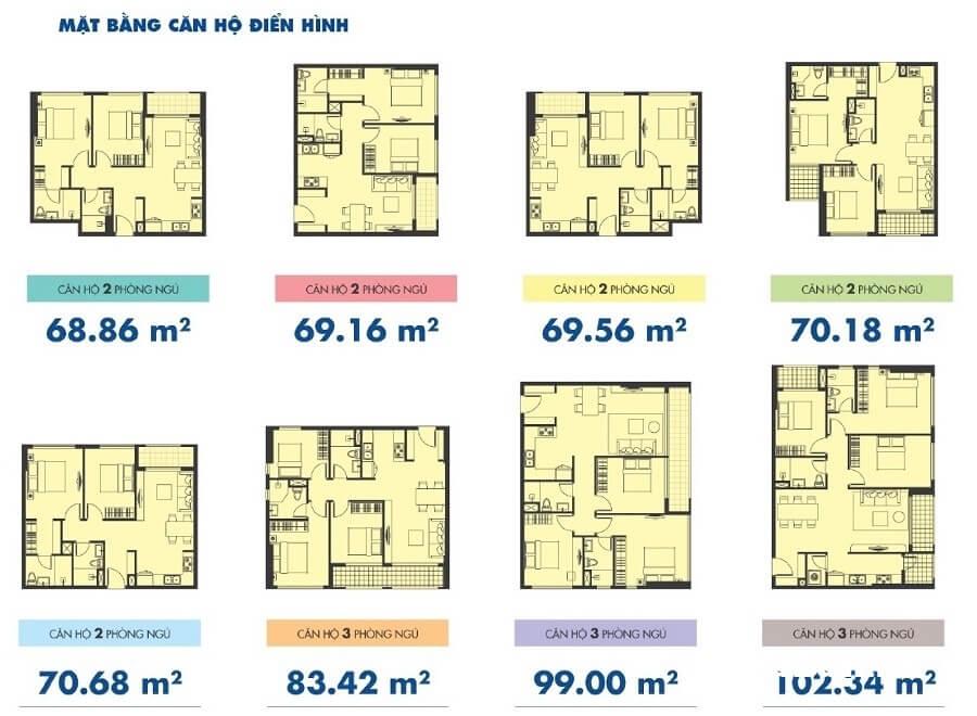 Tất cả các căn hộ tại Sunrise Riverside đều có thiết kế riêng biệt.