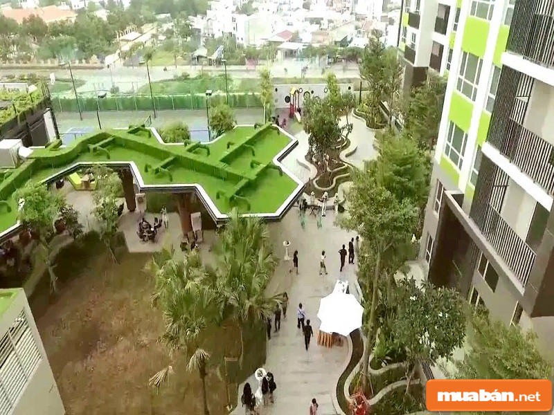 Khu vườn xanh của dự án