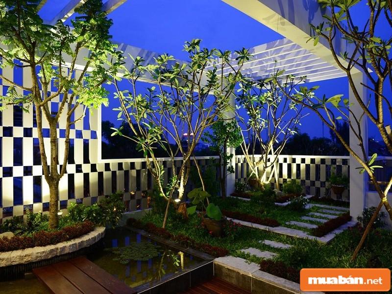 Vườn treo trên cao của dự án