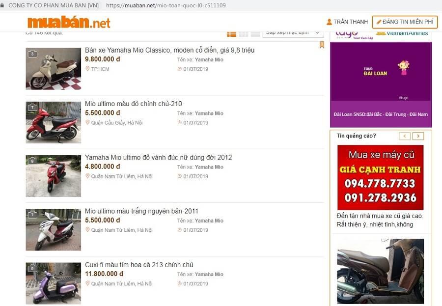 Muaban.net - Địa Chỉ Mua Xe Mio Cũ Chất Lượng