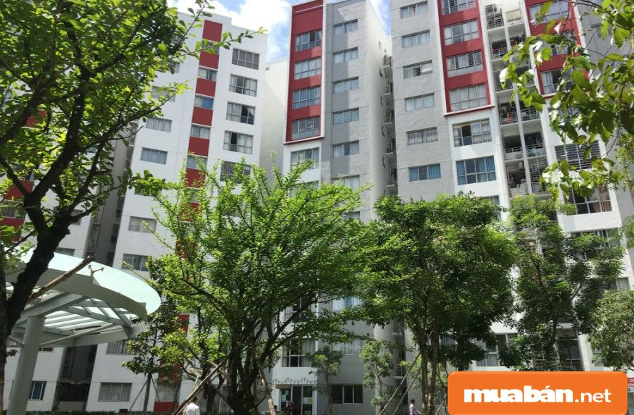 Đây là dự án căn hộ thứ hai được xây dựng và thiết kế với màu xanh chủ đạo.