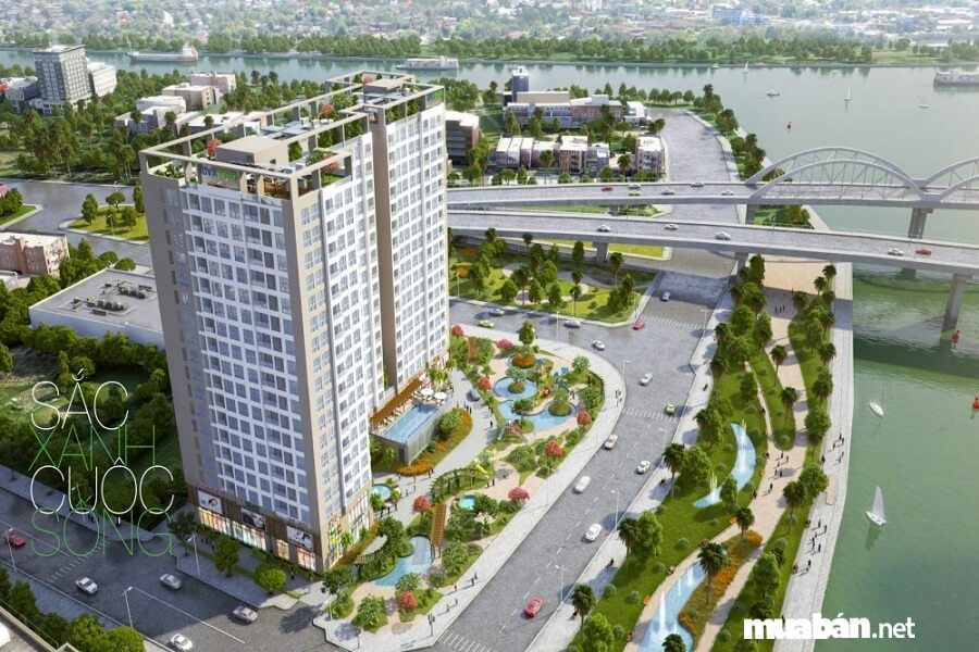Riva Park còn có hướng nhìn đẹp ra nơi hợp lưu của dòng Kênh Tẻ và sông Sài Gòn, mang lại không gian sống trong lành.