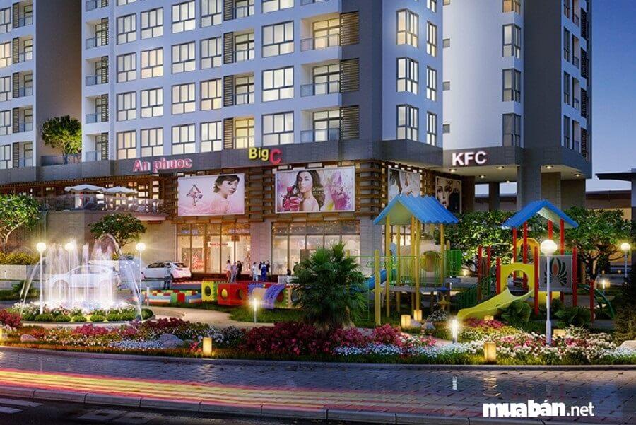 Dự án Riva Park được xây dựng trên khu đất 4.788,19 m2 với 320 căn hộ.