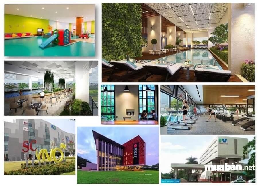 Phần lớn không gian dự án ưu tiên cho mảng xanh và nơi sinh hoạt chung. Tiện ích nội khu phong phú.