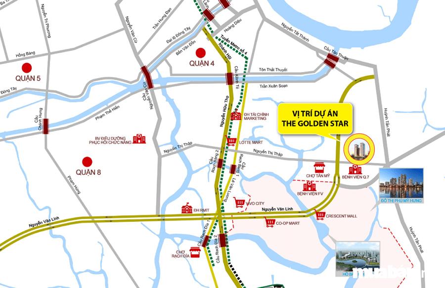 The Golden Star tọa lạc tại số 72 Nguyễn Thị Thập, Phường Bình Thuận, Quận 7, TP.HCM