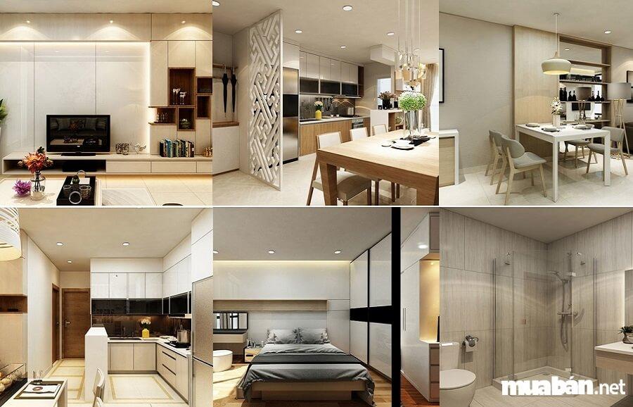 Hệ thống căn hộ The Golden Star bàn giao với nội thất cao cấp.