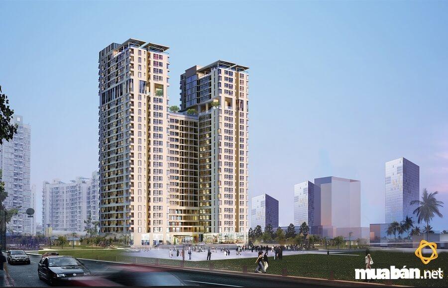 Diện tích khu đất 9.229m2, 2 Block, 26 tầng, 478 căn hộ cao cấp, có penthouse.