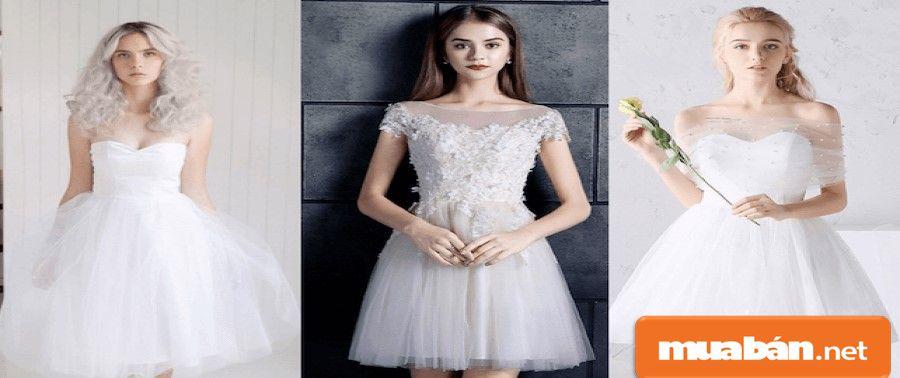Kiểu váy cưới này có phong cách hiện đại, nhưng vẫn giữ được những nét đẹp của váy công chúa.