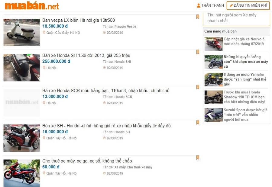 Đừng quên mặc cả giá khi mua tại chợ xe máy cũ Hà Nội