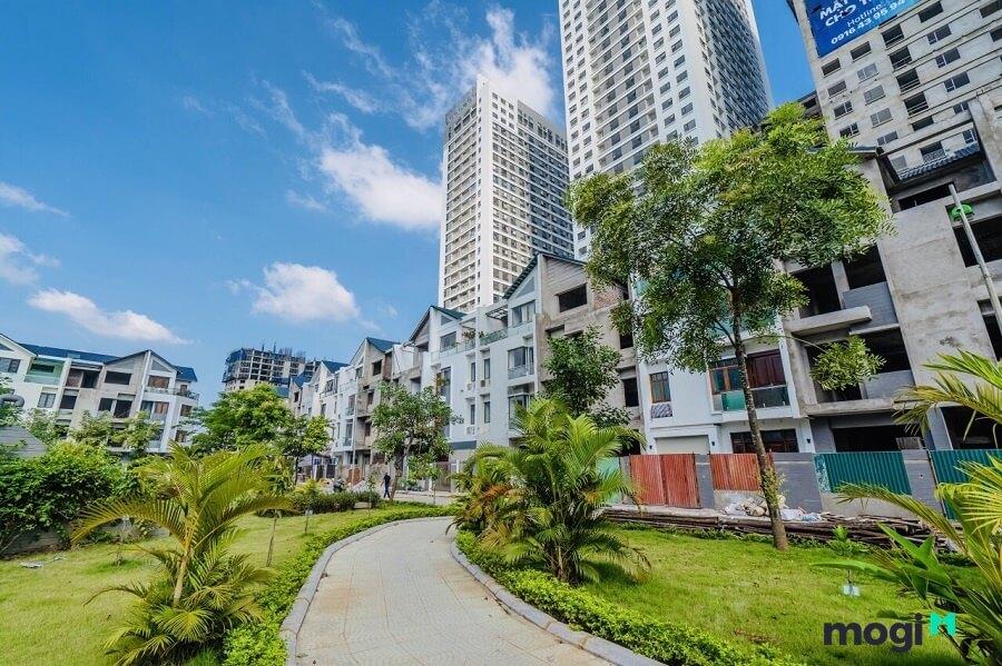 Toàn bộ dự án có đầy đủ loại hình từ căn hộ chung cư cao cấp đến biệt thự song lập và liền kề.