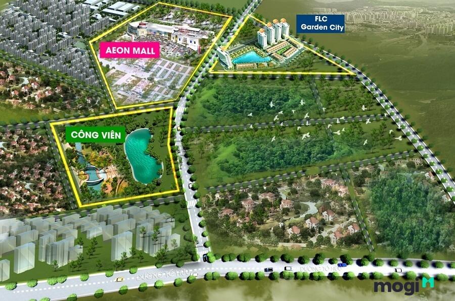 Dự án chung cư FLC Garden City được hưởng lợi từ vị trí và sự quy hoạch đồng bộ của thành phố.