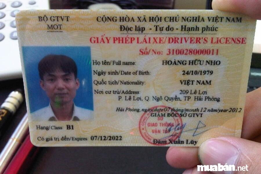 Tại Việt Nam hiện nay có tổng 11 loại bằng lái xe gồm: A, B, C, D, E, F,....